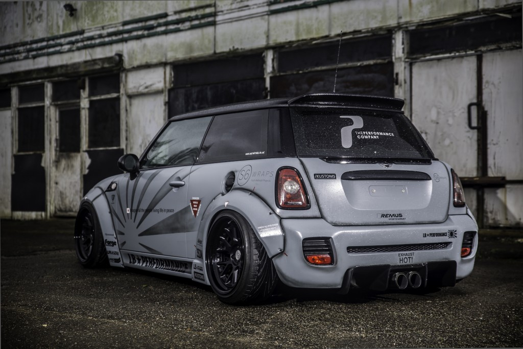 Liberty Walk's Stance Kit adds a huge shot of aggression to the Mini